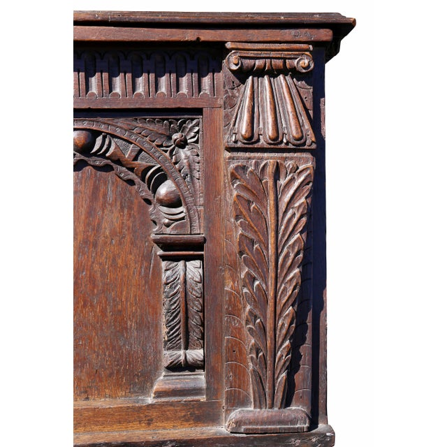 Charles II Oak Coffer For Sale In Boston - Image 6 of 12