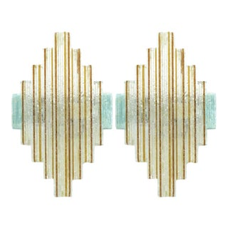 1960s Stacked Sconces by Poliarte - a Pair For Sale