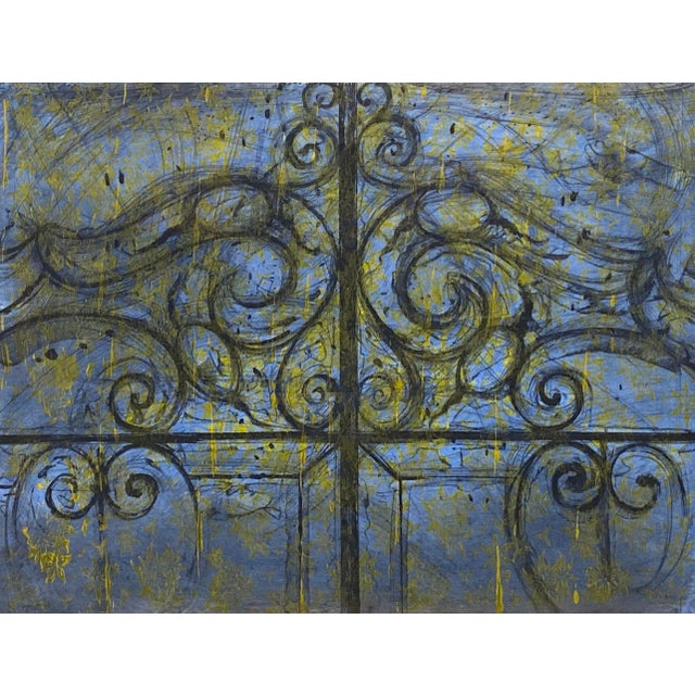 "Black ""Crommelynck Gate"" Lithograph Signed and Numbered by Jim Dine For Sale - Image 8 of 13"