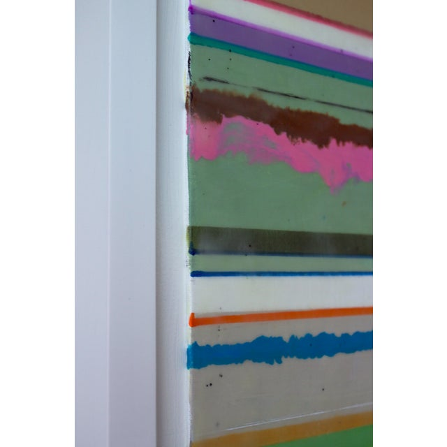 """Original Encaustic Mixed Media Painting by Gina Cochran """"Confections No. 34"""" - Stripes For Sale In Washington DC - Image 6 of 9"""