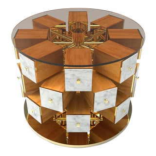 Daniele Toesca Contemporary 24k Gold Chest with Turning Drawers For Sale