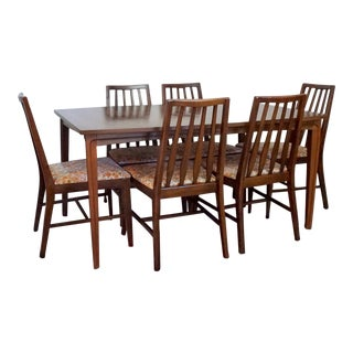Walnut Mid-Century Modern Dining Set