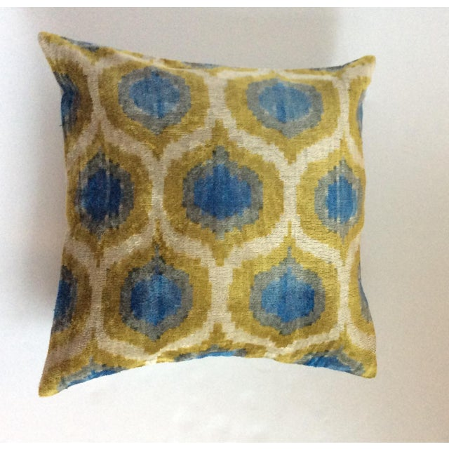 Anatolia Silk Velvet Ikat Pillow - Image 2 of 4