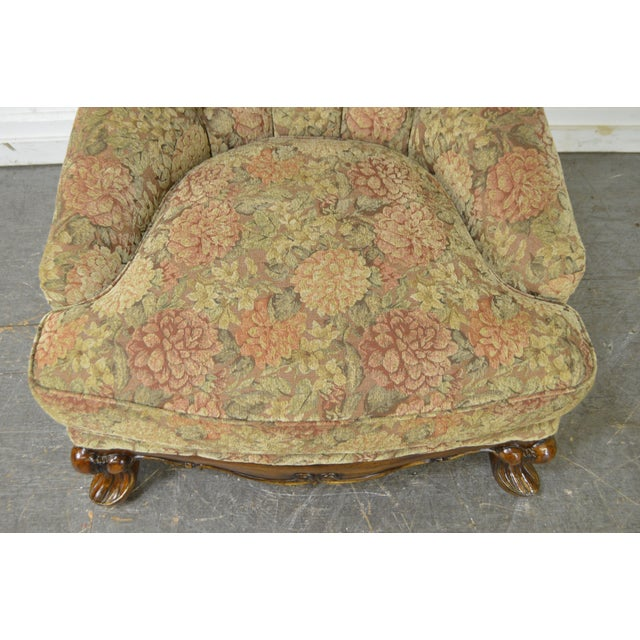 Schnadig Compositions French Louis XV Style Tufted Bergere Lounge Chair - Image 7 of 10