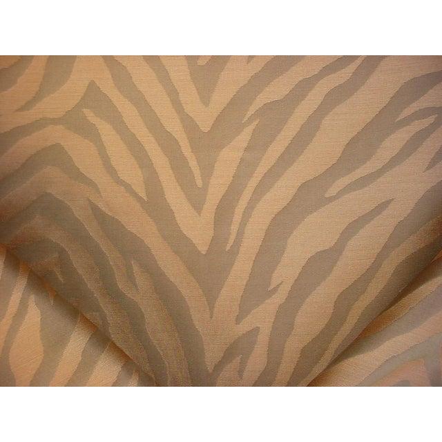 Kravet Solange Pecan Brown Silk Zebra Stripe Drapery Upholstery Fabric - 20y For Sale