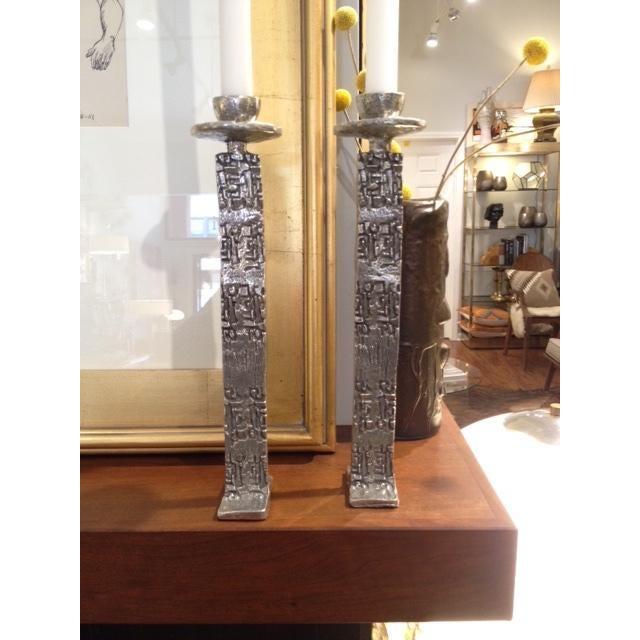 Vintage Modern Brutalist Candle Holders - Image 2 of 6