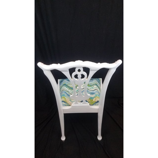 Mid 20th Century Set of 6 White Chippendale Dining Chairs For Sale - Image 5 of 12