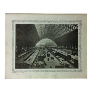 """1906 """"Interior of St. Pancras"""" Famous View of London Print For Sale"""