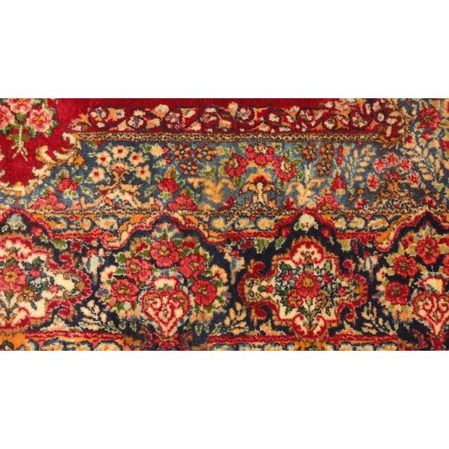 """Persian Multicolor Lavar Kerman Rug - 4'9"""" x 7'2"""" - Image 3 of 4"""
