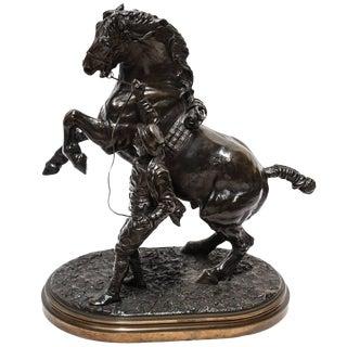 19th Century Bronze Sculpture of a Stallion by Sir Edgar Joseph Boehm For Sale