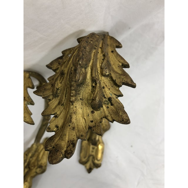 French French Antique 19th Century Gilded Bronze Curtain Tie Backs or Hooks - a Pair For Sale - Image 3 of 5