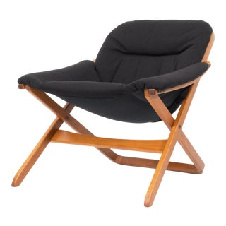Vintage Mid Century Swedish Lounge Chair by Göte Möbel For Sale