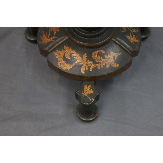 Mid 20th Century Mid 20th Century Floor Lamp With Table and Golden Leaves For Sale - Image 5 of 7