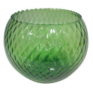 Italian Mid Century Olive Green Center Bowl