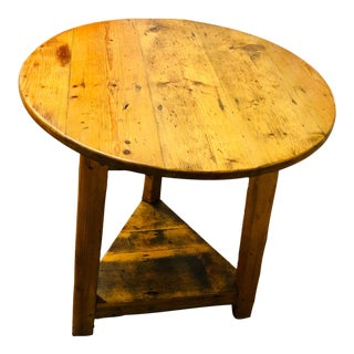 19th Century British Pine Cricket Table For Sale