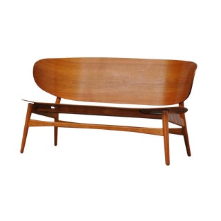 Hans Wegner Shell Settee For Sale