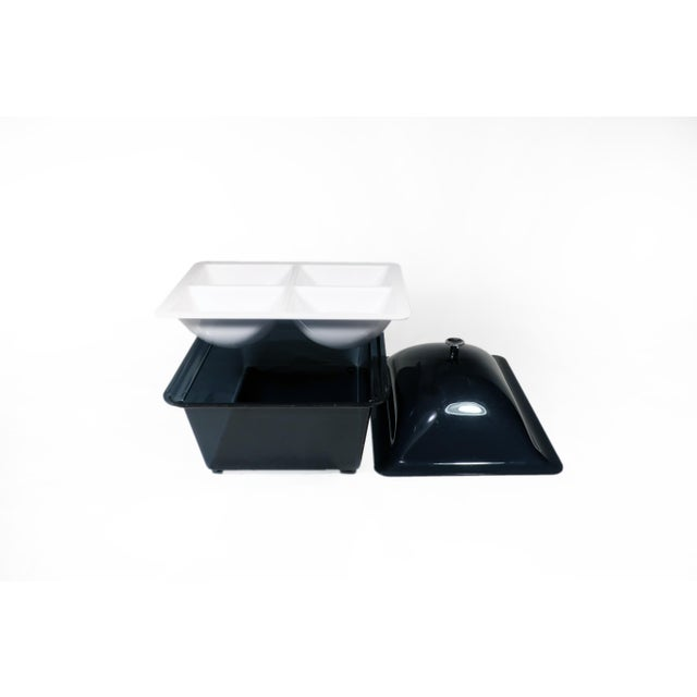 Smoked Acrylic Ice Bucket and Cold Food Server For Sale - Image 4 of 7