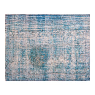 """Vintage Turkish Anatolian Overdyed Hand Knotted Organic Wool Fine Weave Rug,6'3""""x8'6"""" For Sale"""