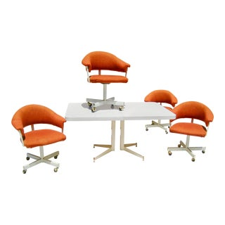 1960s Mid-Century Modern Formica Dining Set - 5 Pieces For Sale