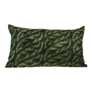 Ikat Silk Velvet Dava Pillow