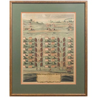 Framed French Cavalry Lithograph, Late 19th Century For Sale