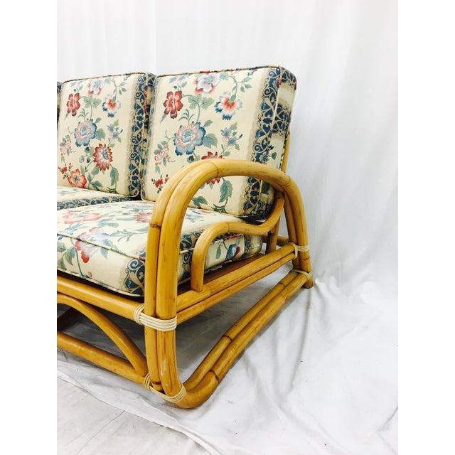 Vintage Mid-Century Rattan Sofa For Sale - Image 4 of 8