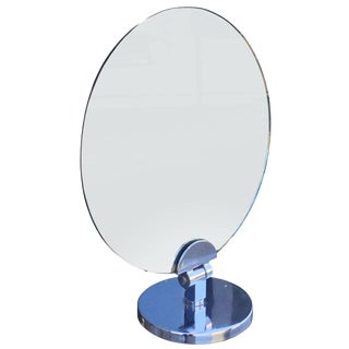 Charles Hollis Jones Swivel Vanity or Table Round Mirror For Sale