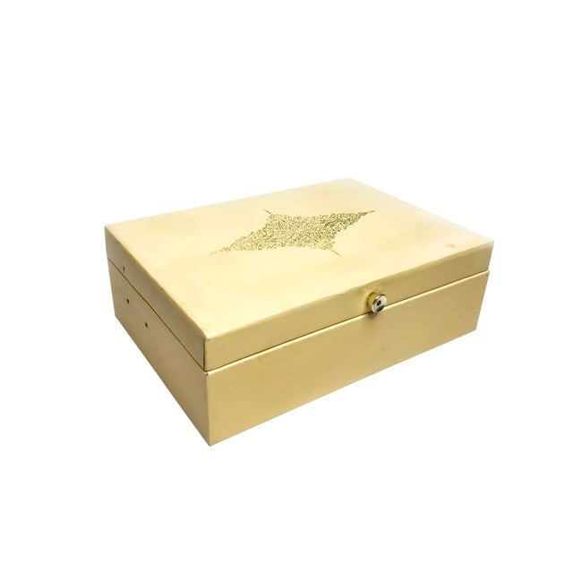 Vintage Mid Century Lady Buxton Jewelry Box For Sale