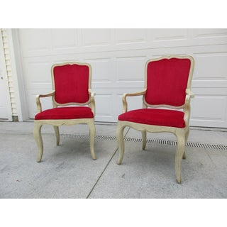 20th Century French Provincial Baker Side or Dining Chairs - a Pair Preview