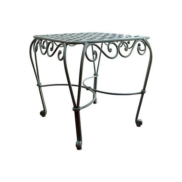 Iron Garden Table - Image 1 of 3