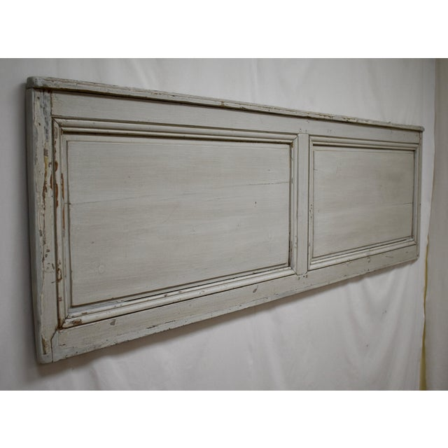 This painted wall panel, reclaimed from a nineteenth century French room, would make a great headboard for a Queen size...