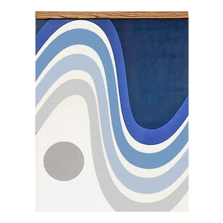 Newman - Retro Wave Canvas Mid-Century Inspired Wall Hanging For Sale