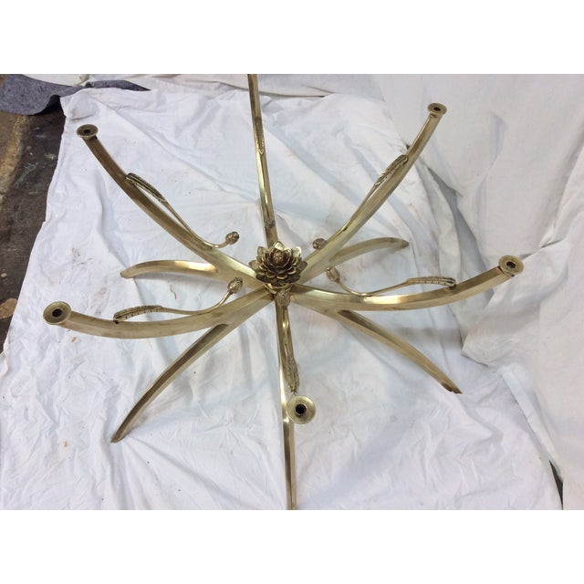 Midcentury Brass Spider Leg Lotus Coffee Table - Image 6 of 7