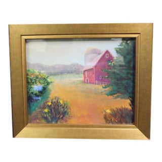 Pastel Drawing by Lily Kwan Named Little Barn For Sale