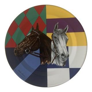 Ralph Lauren Home Jockey Silk Plate For Sale