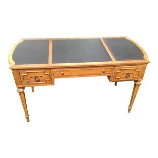 Leather Top Formal Desk For Sale