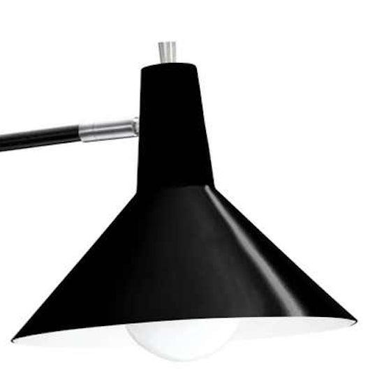 J.J.M. Hoogervorst black paperclip wall light for Anvia. Hoogervorst's most popular, 1950s design, this lamp remains a...