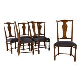Image of Baker Chippendale Style Dining Chairs - Set of 6 For Sale