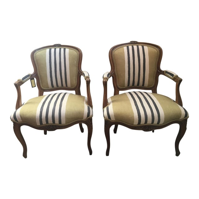A Pair of Fateuil Chair For Sale