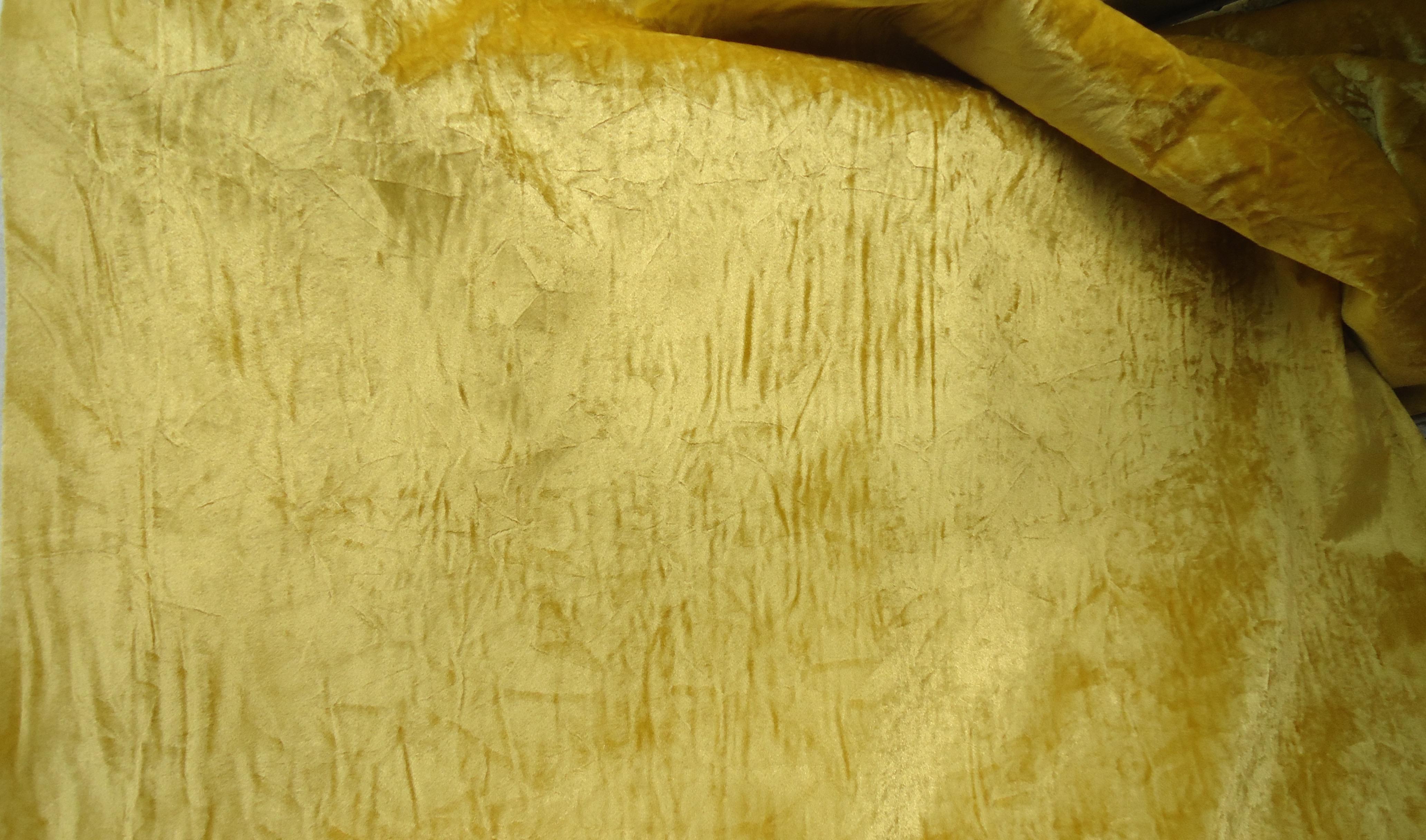 Vintage Crushed Gold Velvet Upholstery Fabric 1 Yard Chairish