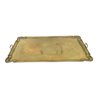 1950s Hollywood Regency Gold Tray Top Coffee Table For Sale