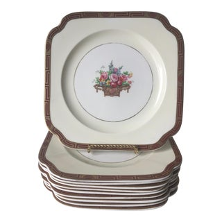 Antique English Wood & Sons Ivory Ware Plates - Set of 10
