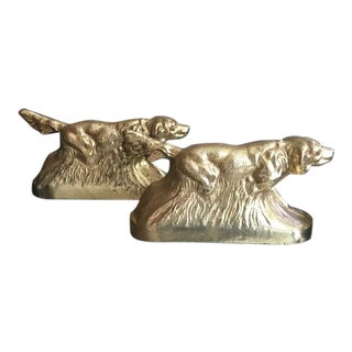 Vintage Hunting Dog Bookends-A Pair For Sale