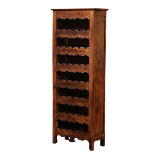 """Louis XV Carved 28 Wine Bottle Holder Cabinet With """"Chateau Margaux"""" For Sale"""