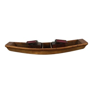 Wooden Boat With Storage Chests