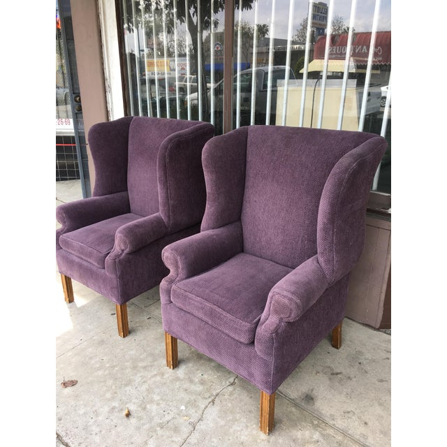 1970s 1970s Vintage Wingback Chairs- A Pair For Sale - Image 5 of 10