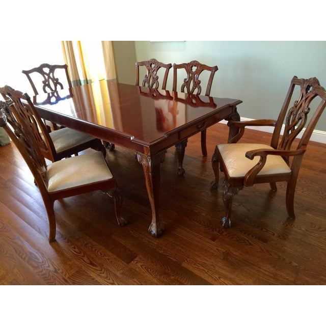 Stanley Stanley 60th Anniv Mahogany Chippendale Dining For Sale - Image 4 of 5