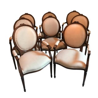 Pristine Italian Neoclassical Style Dining Chairs - Set of 8