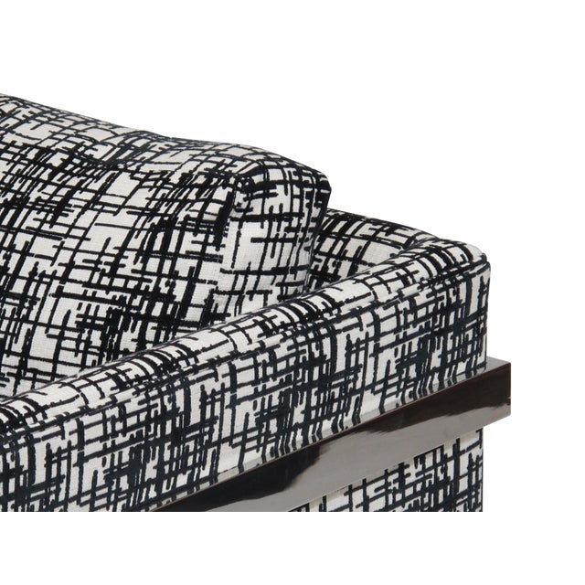 Fabric Milo Baughman for Thayer Coggin Chrome Lounge Chair For Sale - Image 7 of 10