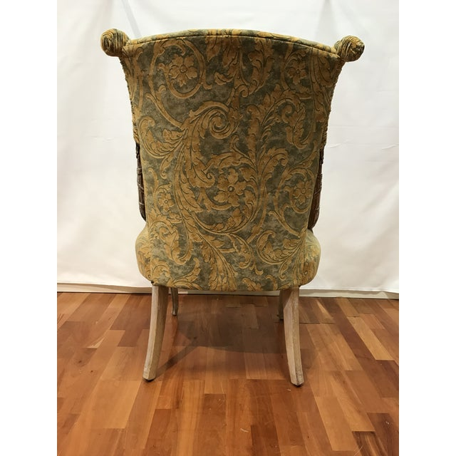 1930s Empire Grosfeld House Lee Jofa Printed Velvet Chair For Sale - Image 5 of 12